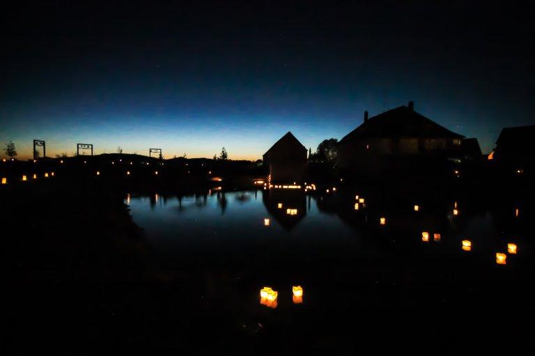 Abendstimmung am Mühlweiher der Gartenschau Wassertrüdingen 2019