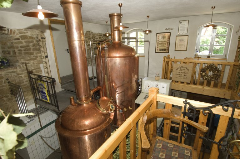 Forstquell Brauerei Fürnheim Braukessel